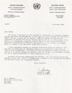 UNHCR-Talbot-letter